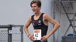 Jakob Ingebrigtsen wins 5000m at Norwegian Championships 2017