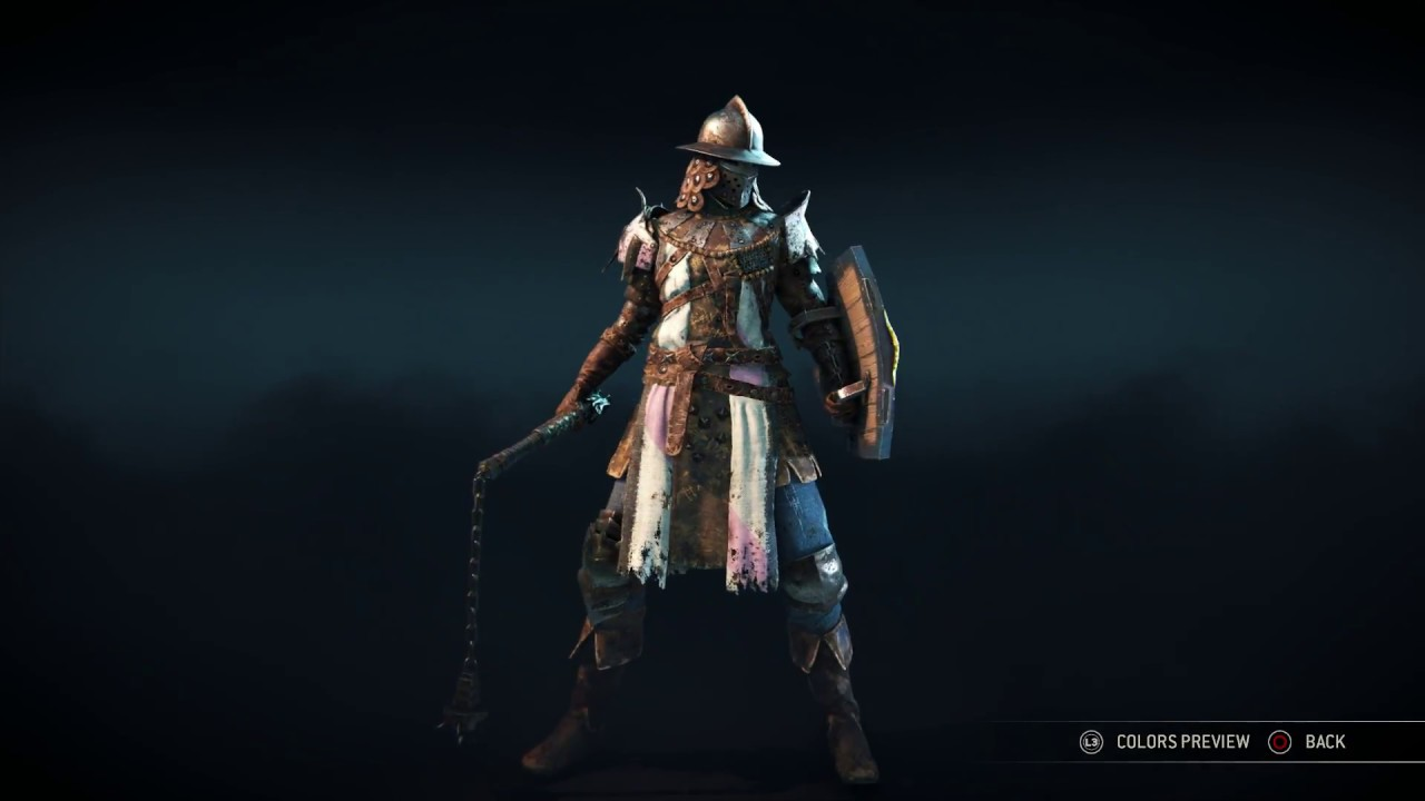 for honor conqueror heroic armor set hoedus helm chest and