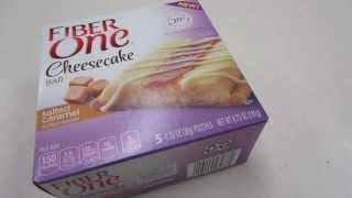 60 Second Review: Fiber One Salted Caramel Cheesecake Bar