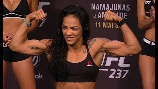 Talita Bernardo vs. Viviane Araujo - Weigh-in Face-Off - (UFC 237: Namajunas vs. Andrade) - /r/WMMA