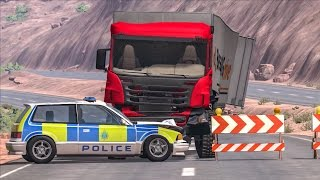EPIC POLICE CHASES #6   BeamNG Drive Crashes