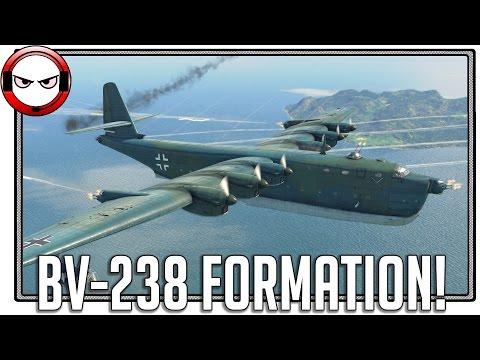 BV-238 Formation! War Thunder's biggest plane!
