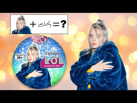 How To Make BILLIE EILISH Paper LOL Surprise Doll with PRINTABLES