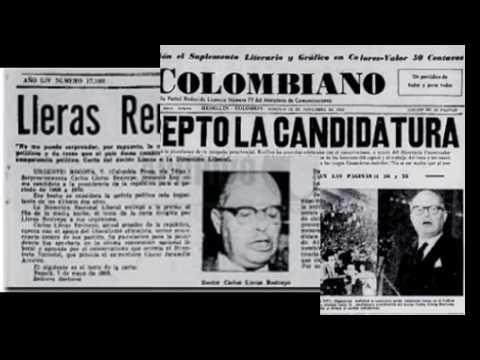 HOMENAJE A CARLOS LLERAS RESTREPO (Presidente de la República de Colombia 1966 - 1970)