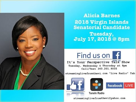 2018 Virgin Islands Senatorial Candidate Alicia Barnes outlines her plans for the Virgin Islands