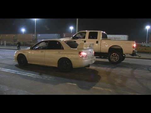 Subaru WRX STi vs Ford F250 Turbo Diesel