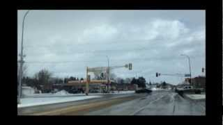 Drive through Dickinson, North Dakota - Bakken Oil City