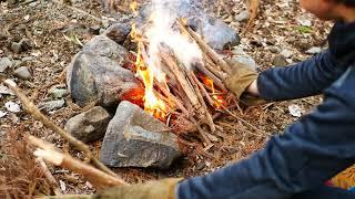 ソロキャンプ 滝沢園の林間で直火テント泊🏕キャンプ料理 キャンプ飯 solo camping cooking wagyu outdoorcooking