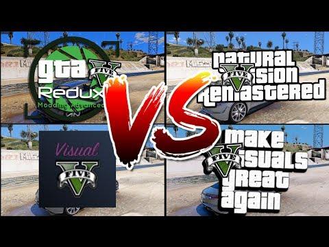 GTA V 2018 : Quel mod est le MEILLEUR ?! (REDUX vs NVR vs MVGA vs