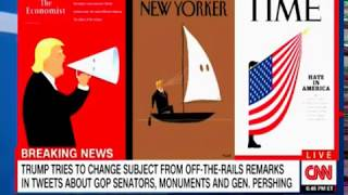 Time, The Economist and the New Yorker Covers feature Trump and Hate in America