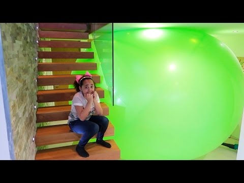 Thumbnail: Giant Balloon Toy Surprise Stuck In My House - Hatchimals Mashems Shopkins Toy Opening