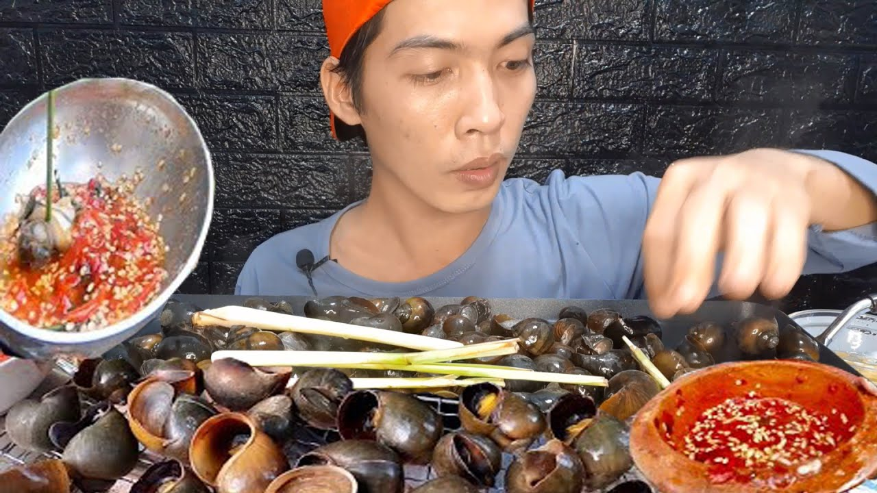 ASMR Zach Choi Ốc Bươu Vàng Sốt Thái Siêu Cay #2442 asmr mukbang
