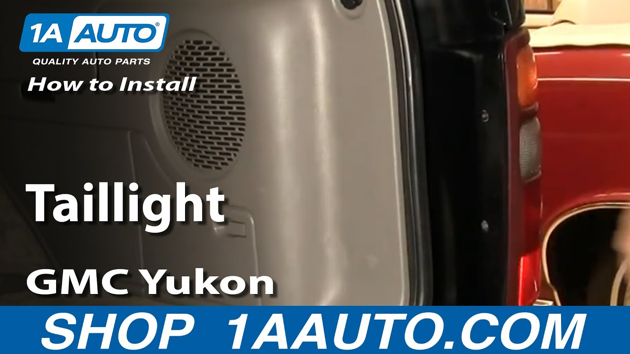 replace tail light   gmc yukon youtube