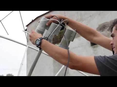 Kit Carona C3(C2)C1 em antena parabólica de 2,30m,