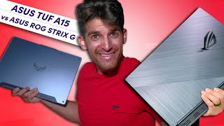 Asus TUF A15 Vs Asus ROG Strix G | Which is best for video editing and graphic design?