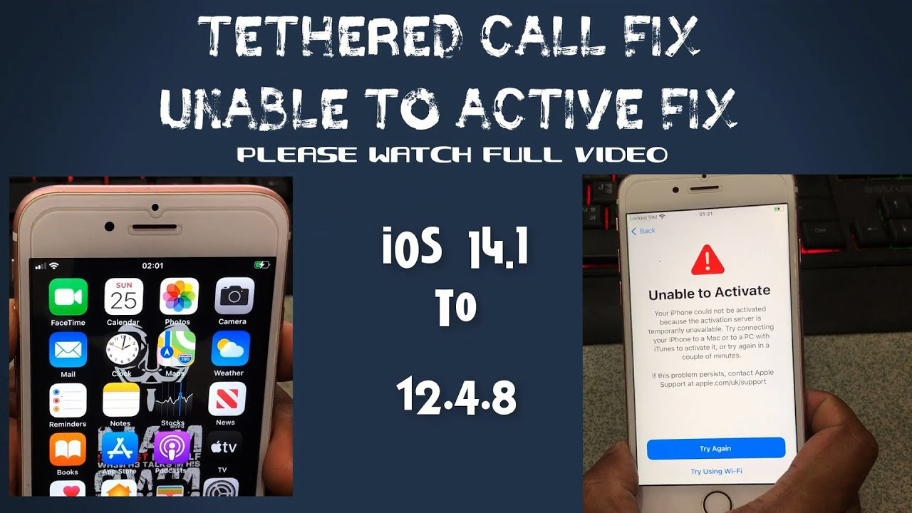[Windows]FREE Tethered Unable To Active And iCloud CALL FIX MEID-NON MEID DEVICE,Fix Restart,Relock✔