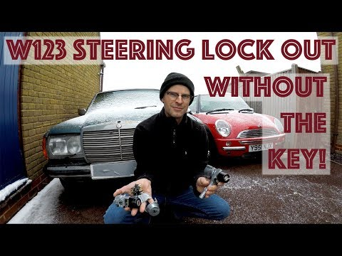 Matts Garage: Mercedes W123 steering lock removed without the key
