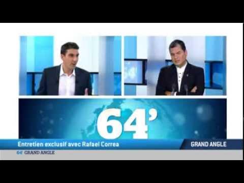 TV5MONDE, sur notre plateau : le président équatorien Rafael Correa