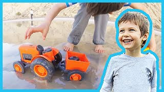 Toy Tractors Collects Sea Shells