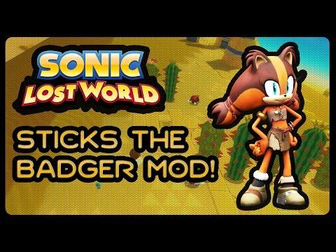 Sonic Lost World (PC) - Sticks the Badger Mod! (1080p/60fps) |