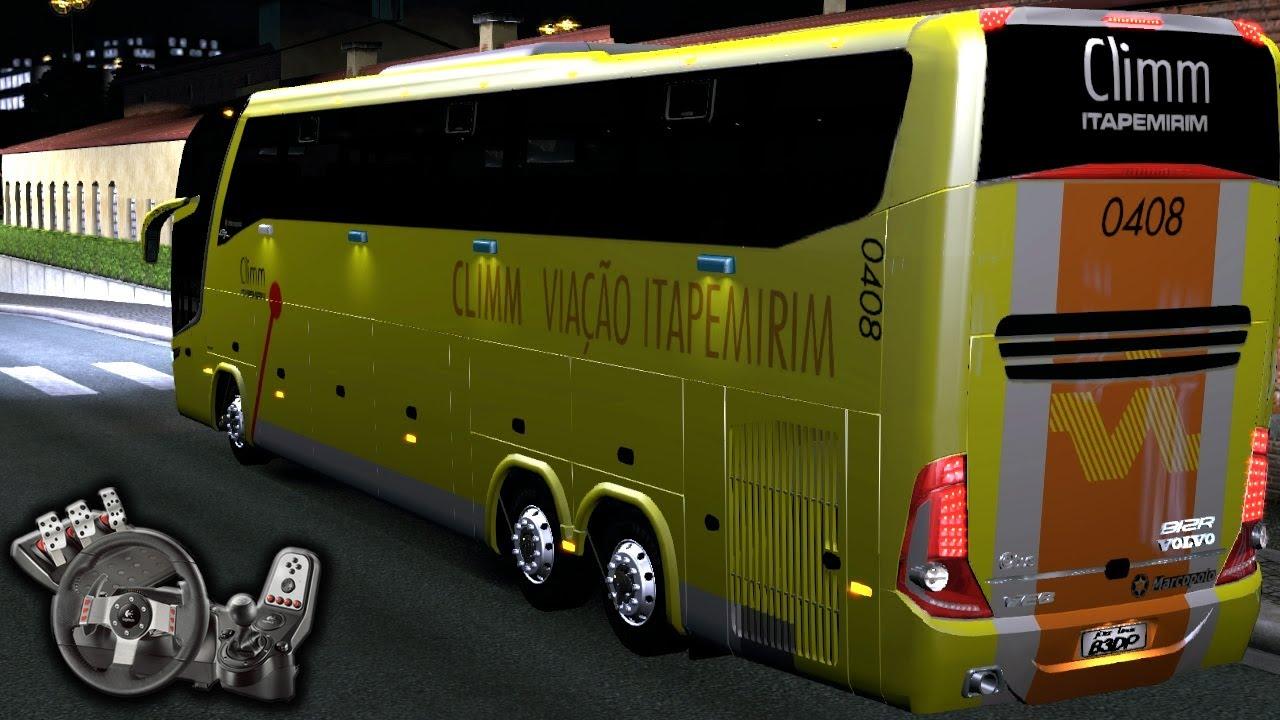 Euro Truck Simulator 2 - Viagem de noitão - Viação Itapemirim - Paradiso G7 - Com Logitech G27