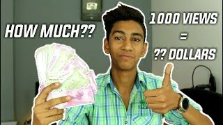 My Youtube Earnings Revealed- How Much I Earn As a YouTuber/ How Much For 1k Views? 🤑🤑🤑