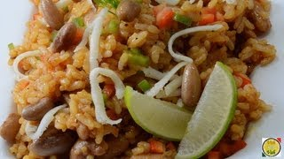 Mexican Tomato Rice with Beans - By Vahchef @ vahrehvah.com