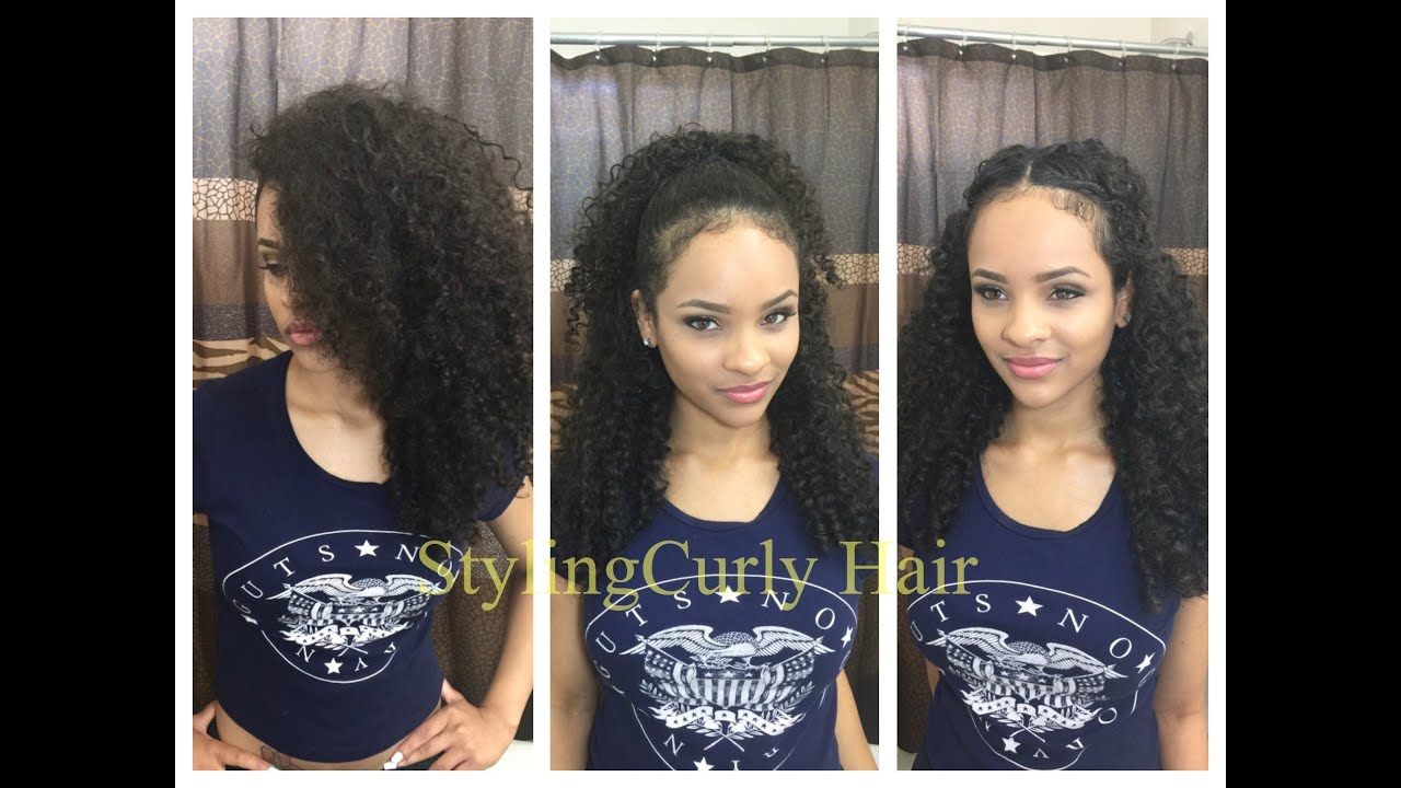 ways to style my hair 6 and simple ways to style curly hair sayria jade 3377 | maxresdefault