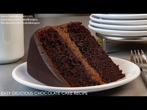 Easy Delicious Chocolate Cake Recipe