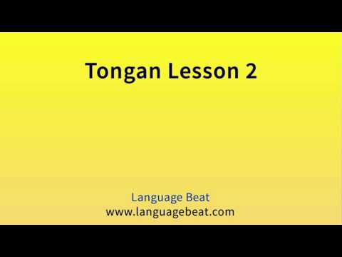 Learn Tongan Lesson 2   :  Tongan  Phrases for Beginners