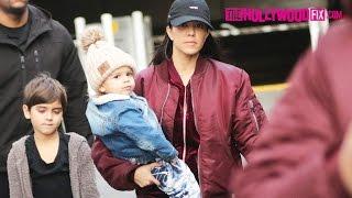 Kourtney Kardashian Takes Her Kids Mason, Penelope & Reign Disick Out To A Meeting 1.24.17