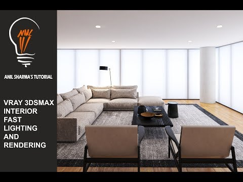 VRAY 3DS MAX INTERIOR LIGHT AND RENDERING  COMPLETE TUTORIAL