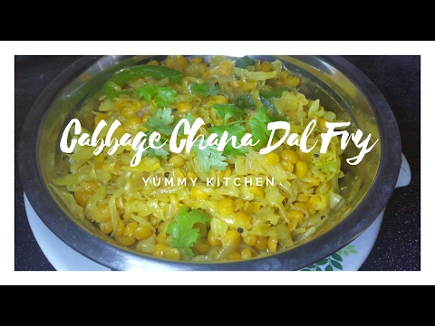 Cabbage Chana Dal Fry | Simple and Easy South Indian Dish | English Subtitles