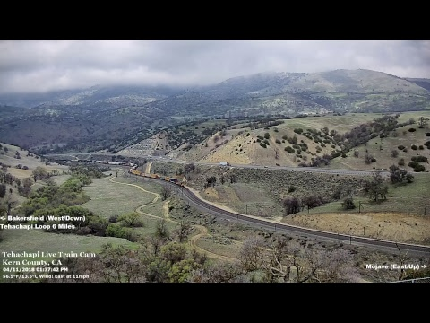 Tehachapi Live Train Cam At West Cable