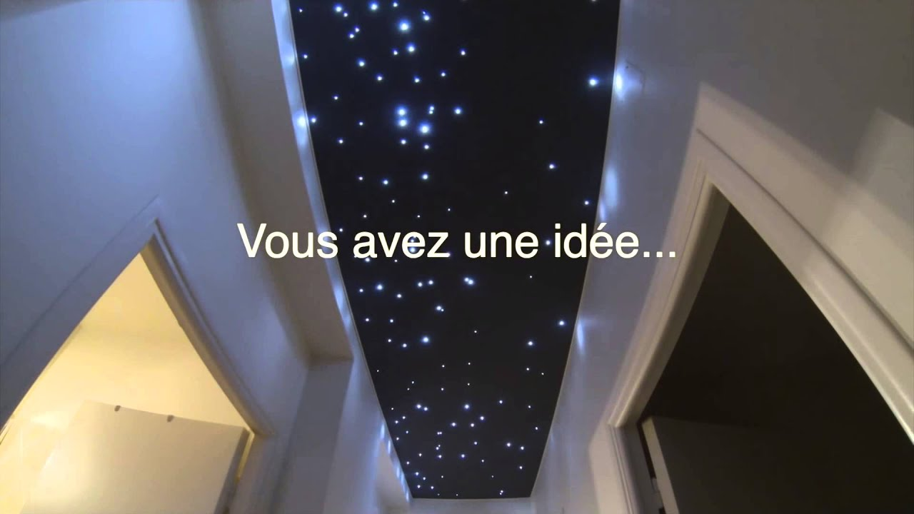 ciel d 39 toiles psd plafond tendu mur imprim youtube. Black Bedroom Furniture Sets. Home Design Ideas