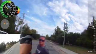 Bicycle Rider vs Road Rage Driver and His Knife