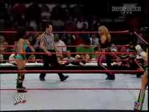 Torrie wilson vs candice michelle paddle on a pole match - 4 9
