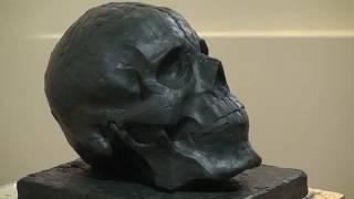 Уроки скульптуры и рисунка: лепка черепа человека, детализация, часть 4