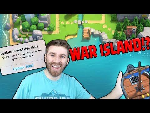 NEW CLAN WARS BOAT & WAR ISLAND!?   Clash Royale NEW UPDATE SNEAK PEEK!