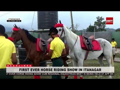 FIRST EVER HORSE RIDING SHOW IN ITANAGAR - YouTube