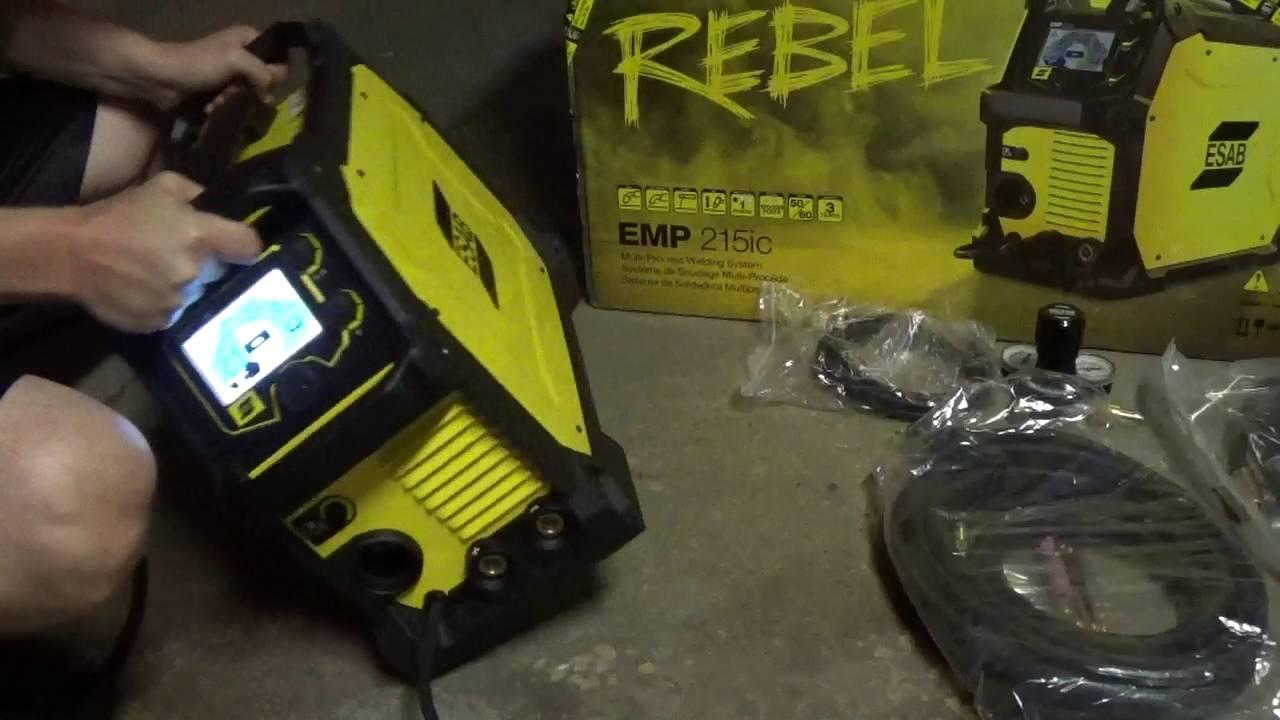 Esab Rebel EMP 215ic Welder unboxing - 3