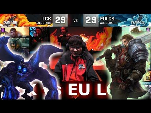 LCK vs EU LCS | LoL All-Star Event 2016 Day 3 | Faker Galio! xPeke Garen!