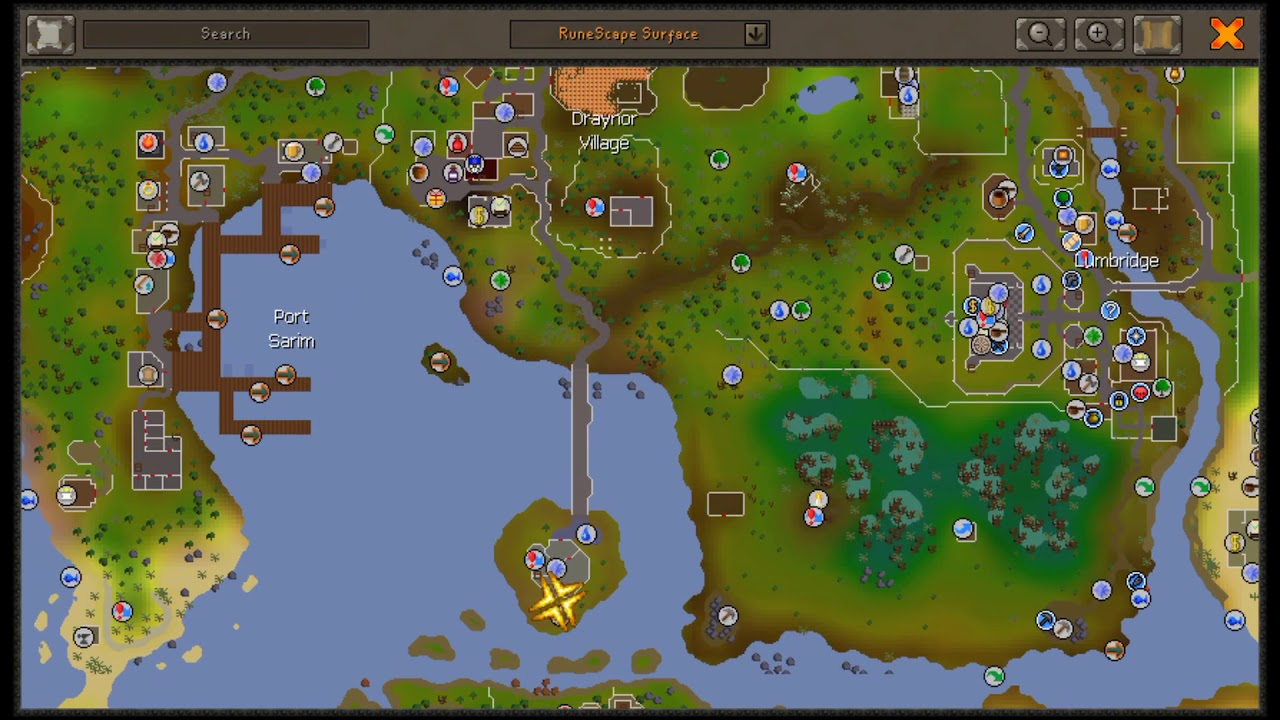 Beginner Clue Map Dig Spot Location Osrs