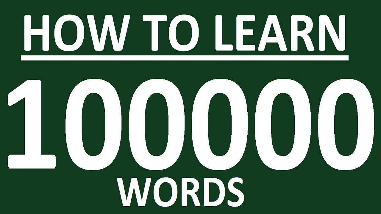 HOW TO LEARN 100+ ENGLISH WORDS A DAY. ENGLISH …