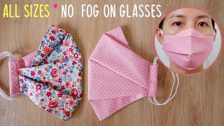 ALL SIZES No Fog On Glasses 2 Sides 3 Layers Face Mask DIY Face Mask