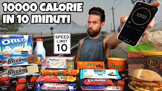 10000 CALORIES CHALLENGE in 10 MINUTI - MAN VS FOOD