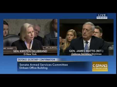 Kirsten Gillibrand and Gen. Mattis