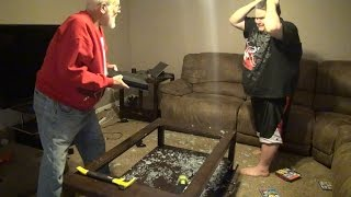 Review on 2 vids: ANGRY GRANDPA DESTROYS PS4! & ANGRY GRANDPA RUINS CHRISTMAS! (PS4 PRANK)