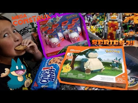 Opening & Building NEW POKEMON MEGA CONSTRUX SNORLAX!! NEW SERIES 3 FIGURES! How To Display Them!