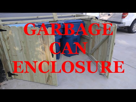 Making a garbage can enclosure